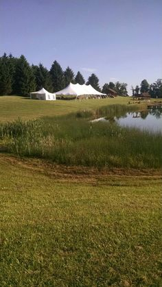 A catering tent and the guest tent during one of the weddings. Pine Beds, Outdoor Wedding Venues, Beautiful Sunrise, Lake View, Bed And Breakfast, Hamilton, Catering, Tent, Country Roads