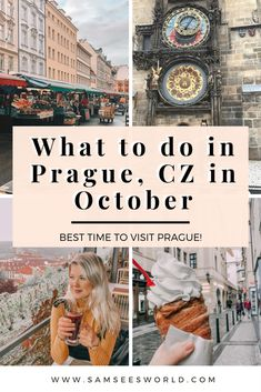 All the best things to do in Prague in October. Prague is one of the most beautiful places in the Czech Republic and is full of exciting things to do in October. This is the best month to visit to enjoy the beautiful architecture stunning sights and more! European Road Trip, European Travel Tips, Europe Travel Guide, Europe Destinations, Travel Guides, Travel Advice, Budget Travel, European City Breaks, Visit Prague