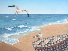 How to Take Good Beach Photos 3d Wall Art, Beach Wall Art, Art 3d, Beach House Decor, Beach Photos, Beach Themes, Mosaic Art, Fishing Boats, Sea Shells