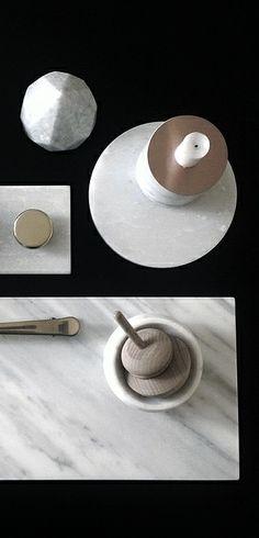 Via NordicDays.nl | Eliarose89 | Black | Copper | Marble | Wood