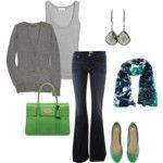gray + green