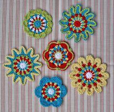 FLORAL MOTIFS - crochet pattern, .