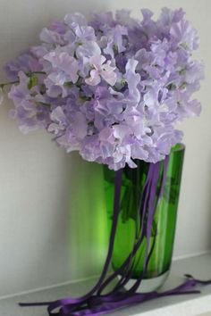 bunch of sweet pea with LSA flower vase ;)