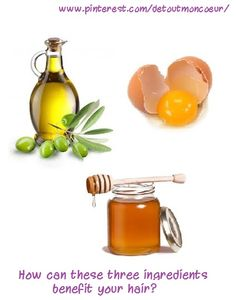 Who new that olive oil, egg yolks and honey would be able to better your hair in many ways? This mixture will make your hair softer and provide a nice shine. Not only this but the egg will help your hair to grow!  Simply mix 1-2 egg yolks (depending on the length of your hair) with about 3 teaspoons of honey and 3 teaspoons of olive oil. Massage into your scalp and leave for 10-15 minutes. After time is up wash it out. See, easy! Why not try it out? Good luck!!!