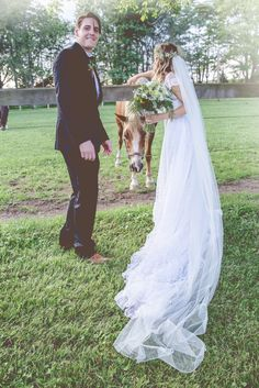 #ringsontheizings Wedding Photo Groom, Bride & Horse: woodland, whimsical, fairy tale, summer, outdoors, happily ever after, rustic, horse ranch, decor, DIY Floral: Margareta Warlick Photographer: Hajnal Keszler