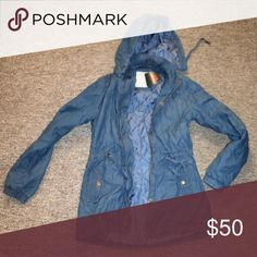 Guess Avelina Anorak Size S Denim Wash jacket with copper hardware Guess by Marciano Jackets & Coats Pea Coats