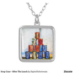 Soup Cans - After The Lunch Silver Plated Necklace