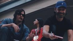 Andrew Lincoln and Norman Reedus at #SDCC2014