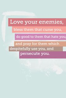 Love your enemies... a great idea for May Visiting teaching handout #LDS, Visiting teaching, uchtdorf, printable, Matthew  By DesignLass