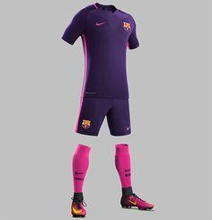 Barcelona divulgou seu segundo uniforme para a temporada 2016/17