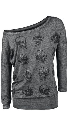 Skull Pad Burnout Shirt - Rock Rebel by EMP (koko LXL) (29,99e)