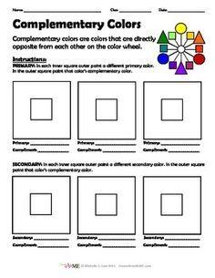 color wheel for primary grades free to print pdf file primary grades art worksheets. Black Bedroom Furniture Sets. Home Design Ideas