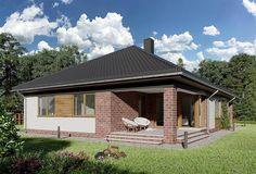 Projekt domu Kordian Rex - murowana – beton komórkowy 124,6 m2 - koszt budowy - EXTRADOM Gazebo, House Plans, Outdoor Structures, House Design, Cabin, How To Plan, House Styles, Outdoor Decor, Home Decor