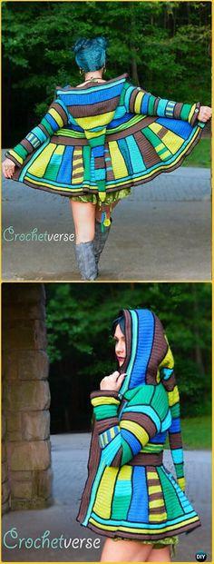 Crochet Serged Dream Coat Paid Pattern - Crochet Women Sweater Coat & Cardigan Free Patterns