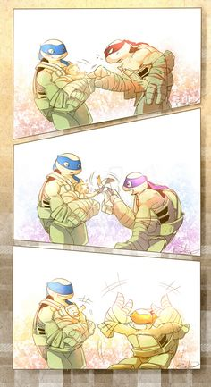 Turtles and baby Miwa by owiyalight on DeviantArt