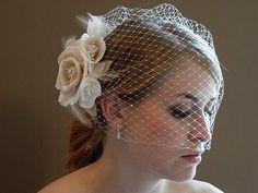 Wedding Bells: Tip: Styles of Birdcage Veils or Vibandiko kwa biharusi