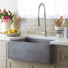 Fantastic new concrete farm sink by @Native_Trails. Available through Artisan Kitchens and Baths