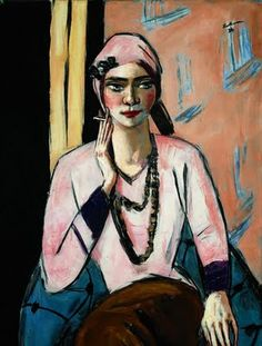 Max Beckmann Quappi with pink sweater, 1935 Óil on canvas 105 x 73 cm Museo Thyssen-Bornemisza, Madrid Max Beckmann, Contemporary Artists, Modern Art, Expressionist Artists, American Artists, Figurative Art, Female Art, Painting & Drawing, Illustration Art