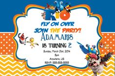 Rio 2 Movie Birthday Invitations and party supplies  by mauisrael, $8.50