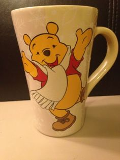 Disney Winnie The Pooh Winter Snowflake and Scarf Coffee Mug | eBay