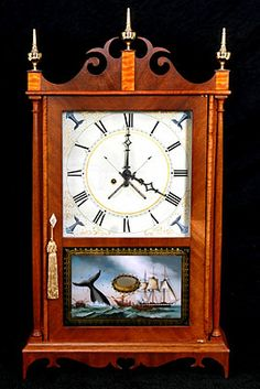 Eli Terry Whale Tail Pillar and Scroll Clockhttp://www.antiquetrader.com/