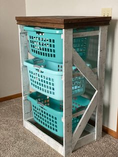Laundry Basket Holder, Laundry Basket Dresser, Laundry Basket Organization, Laundry Room Baskets, Laundry Room Organization, Laundry Room Design, Laundry Hamper, Storage Baskets, Hamper Basket