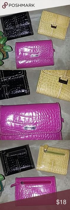 New✨Liz Claiborne wallets Three Liz Claiborne wallets one black one light lime green and one pink. All are in excellent condition hardly been used. These wallets are sturdy and reliable and last for years. Liz Claiborne Bags Wallets