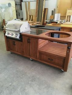 Grill Station design ideas for your backyard. #grilldesign #grillstations - Grill Table - Grill Cart - Grill Cabinet for Big Green Egg, Kamado Joe, Primo, Dual Grills, Gas Grills & more http://poly-building.info/20-outdoor-grill-designs-and-what-to-look-for-when-buying/?1351212927