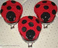* Pérolas do Crochet: ღ Porta-moedas / niqueleiras em crochet ღ Aprenda a fazer