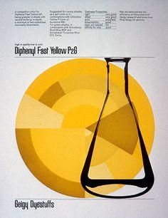 Diphenyl Fast Yellow P2G - Kramer Design (Burton Kramer) for Geigy, 1960