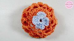 Sujetador para el cabello de niña, a crochet paso a paso