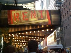 RENT on broadway.  It is a great play and great music.  I haven't seen the movie, so can't compare.