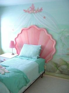 Oh goodness, Claire would DIE if this was her room! Ariel Mermaid Disney Princess Bedroom Set : Enchanting Disney Princess Bedroom Set For Little Girl – Better Home and Garden
