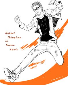 Robert Sheehan as Simon Lewis (done by Cassandra Jean)