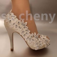 Cheap wedding shoes lace, Buy Quality women pumps directly from China shoes woman pumps Suppliers: Dress Shoes Women Pumps Peep Toe silk elegant crystal shoes Open toe rhinestone wedding shoes lace size 41 Rhinestone Wedding Shoes, Converse Wedding Shoes, Wedge Wedding Shoes, Wedding Shoes Bride, Bride Shoes, Wedding Veils, Wedding Hair, Bridal Hair, Diy Wedding