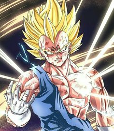 blonde_hair blood bruise dragon_ball dragon_ball_z dragonball_z electricity facial_mark forehead_mark gloves green_eyes highres injury majin_vegeta male_focus muscle smile solo spiked_hair super_saiyan upper_body vegeta veins white_gloves widow's_peak Vegeta Saiyan, Goku And Vegeta, Dragon Ball Z Shirt, Dragon Ball Gt, Fan Art, Majin, Manga Dragon, Dbz Characters, Animes Wallpapers