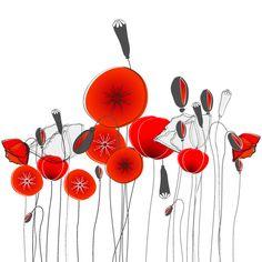 free vector poppy - Поиск в Google