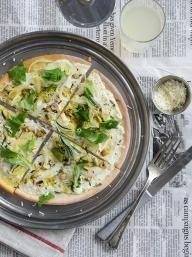 Pistachio and Rosemary White Pizza   KitchenDaily.com