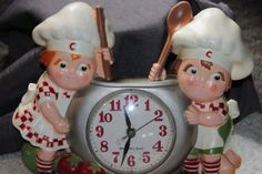 VTG 1990 CAMPBELL'S SOUP KIDS BATTERY OPERATED  KITCHEN WALL CLOCK   BURWOOD PRO #Campbells