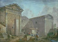 Temple of Augustus, Pola, Istria by Charles-Louis Clerisseau