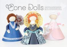 Bonecas de cone de papel