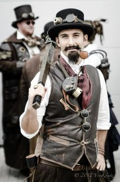 Steampunk Ruffian (men's steampunk clothing & costumes) - For costume tutorials, clothing guide, fashion inspiration photo gallery, calendar of Steampunk events, & more, visit SteampunkFashionGuide.com