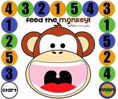 Feed the Monkey: Counting Board Game for Toddlers & Preschool