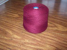 Marsala Yarn, Burgandy Hi Bulk Acrylic Yarn, Machine knitting yarn, weaving, sock machine yarn, needle punch yarn, craft yarn by stephaniesyarn on Etsy