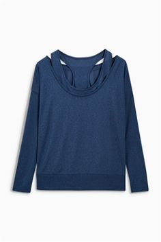 Blue Long Sleeve Layer Top $29