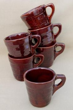 Marcrest Brown  Daisy /&Dot Bowls Cups