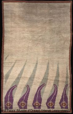 Akseli Gallen-Kallela Flame Rug, Wool Weaving - 340 x 190 cm Paris, Musée d'Orsay Photo : RMN/ H. Rya Rug, Henri Rousseau, Russian Art, Geometric Designs, African Art, Belle Photo, Oeuvre D'art, Textile Art, Handicraft