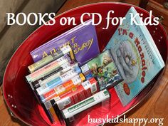 Books on CD or Audio Books, most available at the public library.  Fabulous for listening comprehension and vocabulary building.  A must for all classrooms.