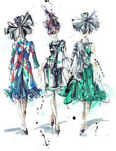 Thom Browne by MelEesa Lorett Illustration.Files: S/S 2015 New York Fashion Week Fashion Illustrations by MelEesa Lorett