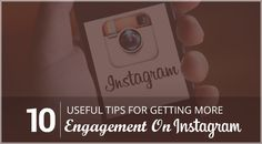 10 Useful Tips For Getting More Engagement On Instagram http://socialpilot.co/blog/10-useful-tips-for-getting-more-engagement-on-instagram/